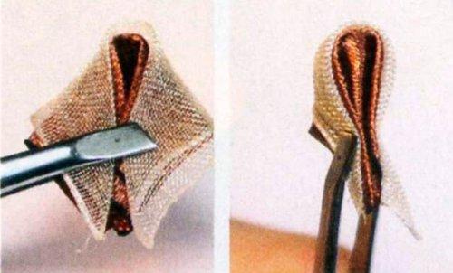 Гумка для волосся в техніці канзаші своїми руками.