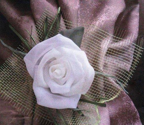 Троянда з шифону своїми руками. МК.