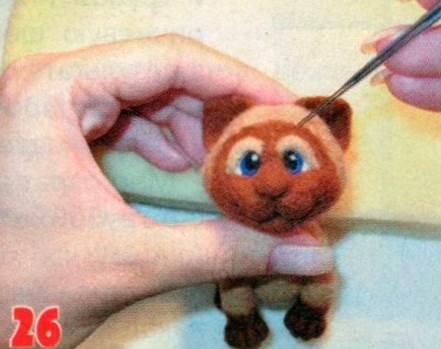 Як включити сіамського кота. Як включити іграшку.