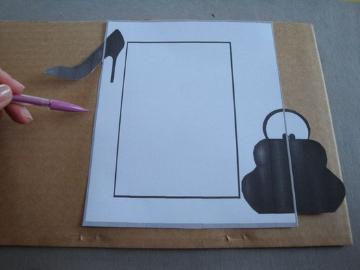 Фоторамка з картону, покроковий майстер клас