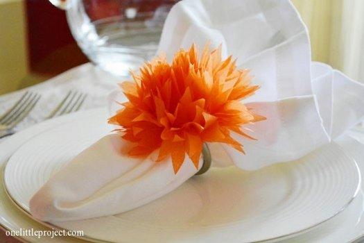 Прикрашаємо святковий стіл, кільце для серветок своїми руками