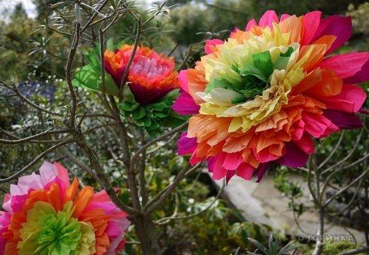 Робимо дуже гарні квіти з гофробумаги