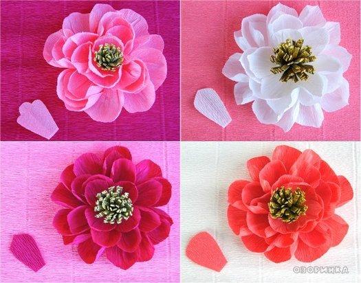 Робимо гарні квіти з гофробумаги