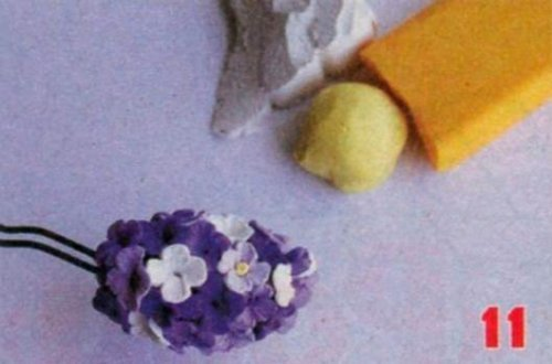 Бузок з полімерної глини. Майстер клас (МК).
