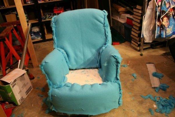Как сделать с стула кресла 4