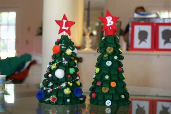 Робимо новорічну ялинку з фетру своїми руками.