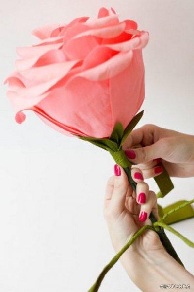 Великий букет квітів з гофробумаги майстер клас