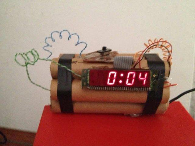 Вибухонебезпечний будильник