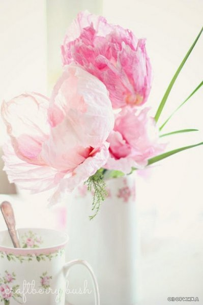 Як зробити квіти з гофробумаги майстер клас