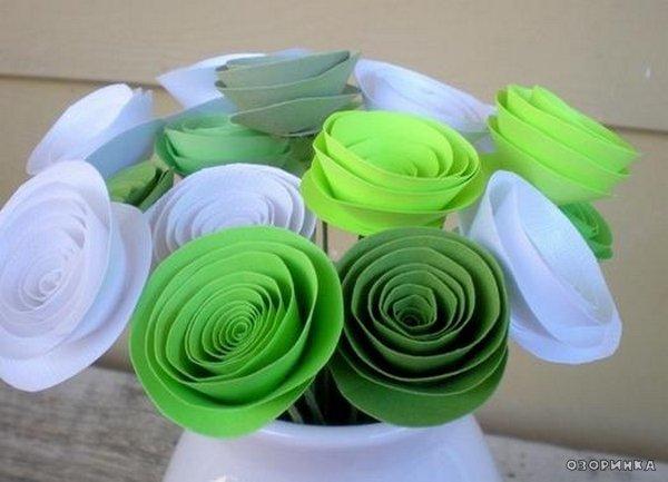 Як зробити букет квітів з паперу