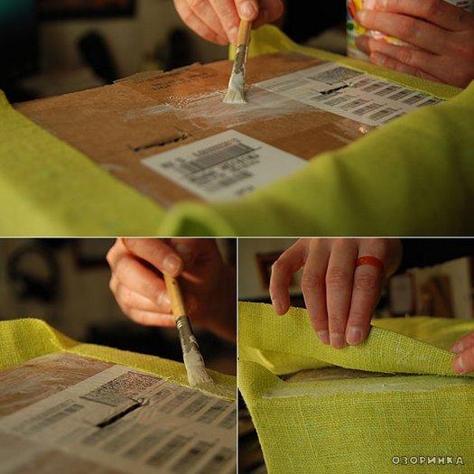 Як зробити декоровану коробку з картону