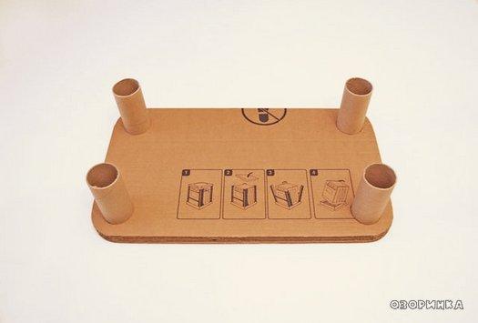 Як зробити столик з картону для дітей своїми руками
