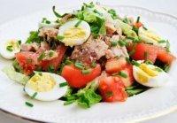1419504050 salat z perepelinimi yaycyami Салат з перепелиними яйцями. Рецепт салату