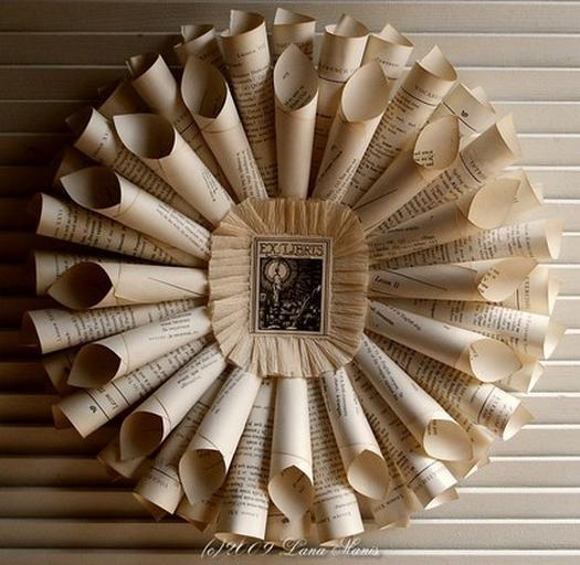 Незвичайна ідея паперового декору стіни