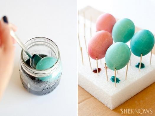 Незвичайний спосіб декору великодніх яєць з допомогою поталі.