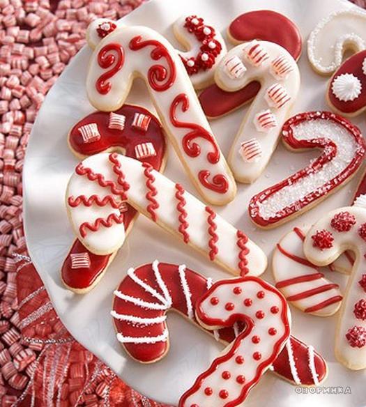 Новорічне печиво в глазурі. Ідеї.