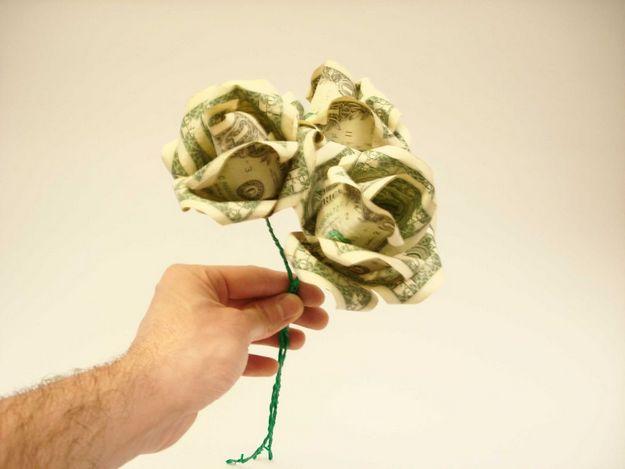Роза из денег своими руками мастер класс 97