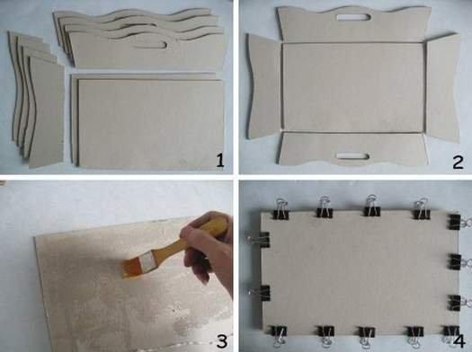 Робимо кошик для рукоділля з картону своїми руками