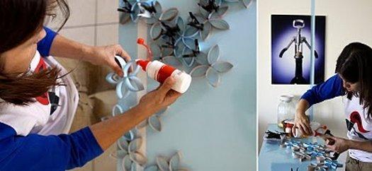 Робимо панно з туалетних трубочок своїми руками
