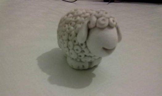 Робимо вівцю із солоного тіста.