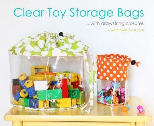 Шиємо прозорий мішок для зберігання іграшок своїми руками.