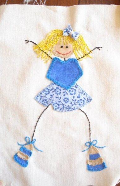 Аплікація з тканини для дітей, кілька ідей