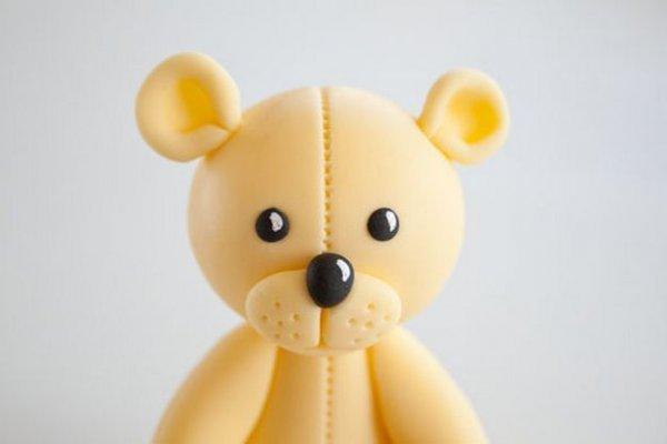 Чарівний ведмедик з полімерної глини, майстер клас.