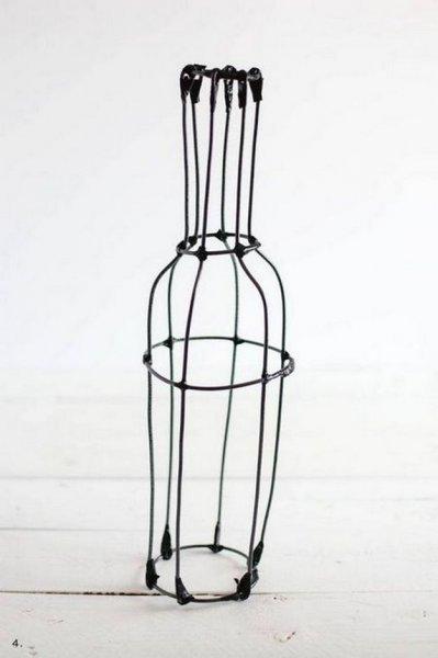 Декоративна ваза з дроту своїми руками.
