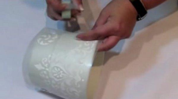Декоруємо квітковий горщик відео мк.