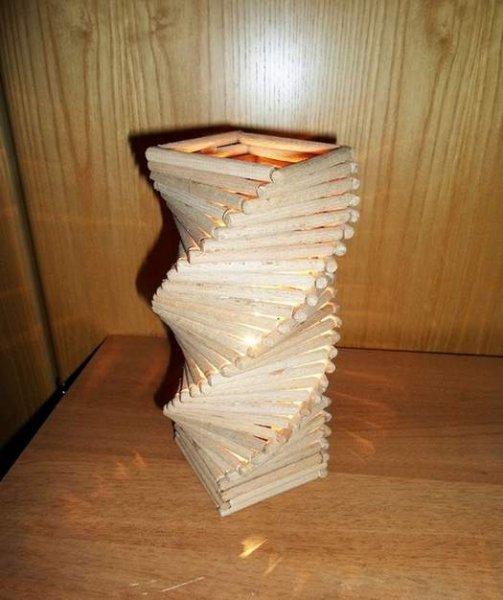 Настільна лампа з дерева своїми руками