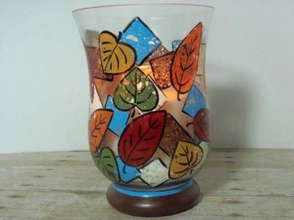 Оригінальна ідея розпису скляної вази губками