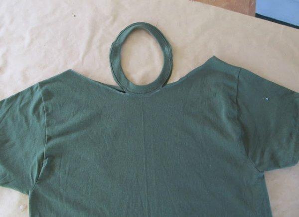 Переробка старої футболки в стильну туніку МК.