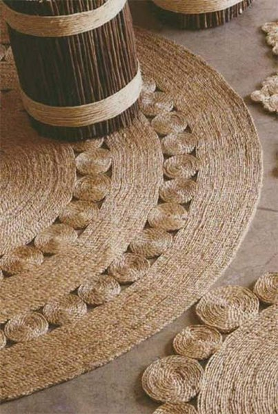 Плетемо килимок з джутової мотузки своїми руками