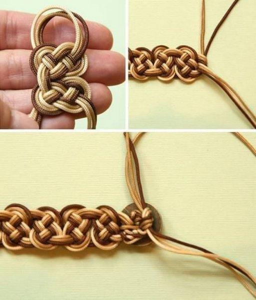 Плетений браслет з шнурків своїми руками.