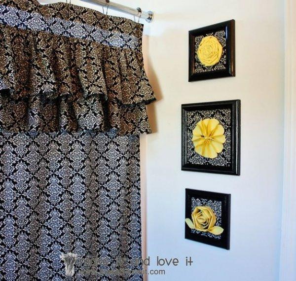 Прикрашаємо стіну текстильним декор в рамці.