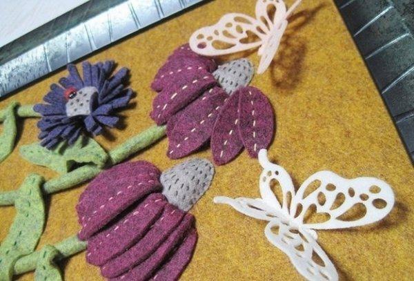 Робимо декоративне панно з фетру своїми руками.