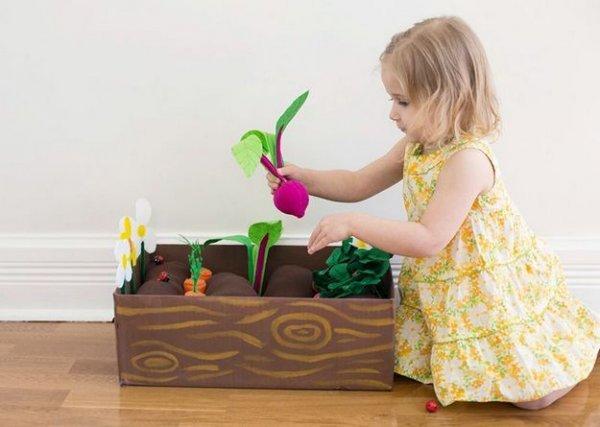 Робимо грядку овочів з фетру своїми руками.