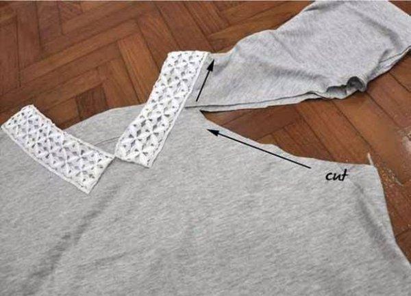 Робимо комір для футболки, докладний майстер клас.
