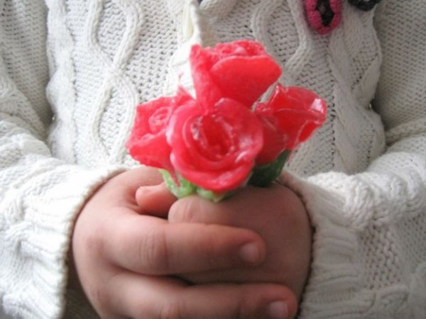 Робимо троянду з мармеладу своїми руками.