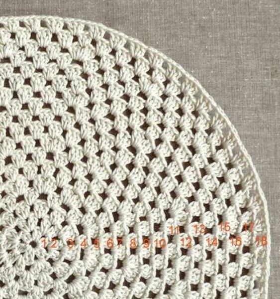 Ще один варіант в\язаних килимків гачком.