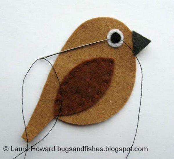 Шиємо пташки з фетру, докладний майстер клас.