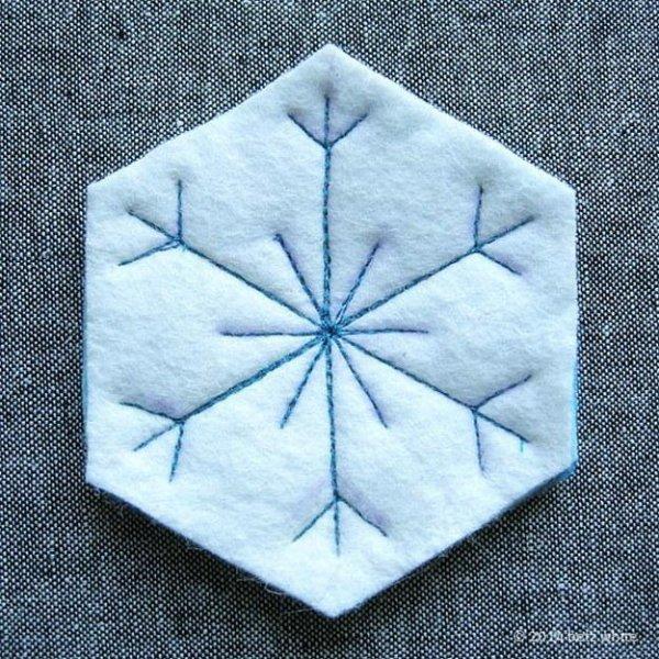 Сніжинки з фетру своїми руками, майстер клас.
