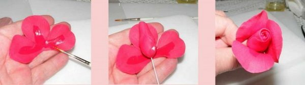 Троянда з цукрової мастики для торта, докладний майстер клас.