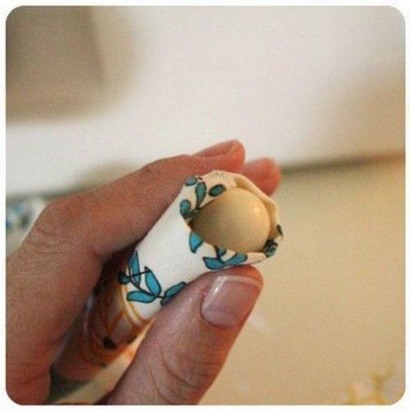Як легко зробити намисто з тканини.