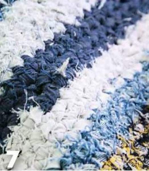 Як зробити килимок з джинси