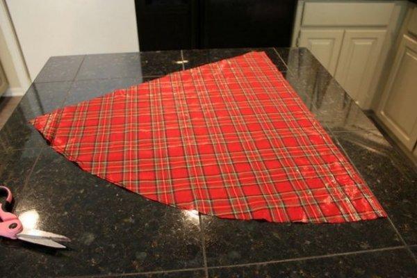 Як зробити ялинку з тканини, докладний майстер клас.