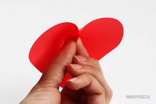 «Валентинки» на стіні   паперові сердечка своїми руками