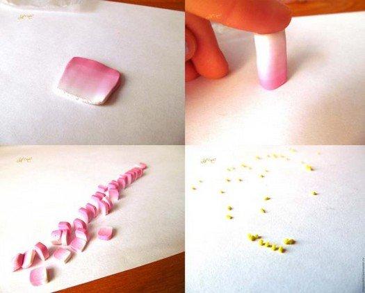Як зробити сережки з полімерної глини, покроковий майстер клас.