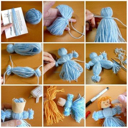 1423646348 yak zrobiti lyalku z nitok Як зробити ляльку з ниток своїми руками?