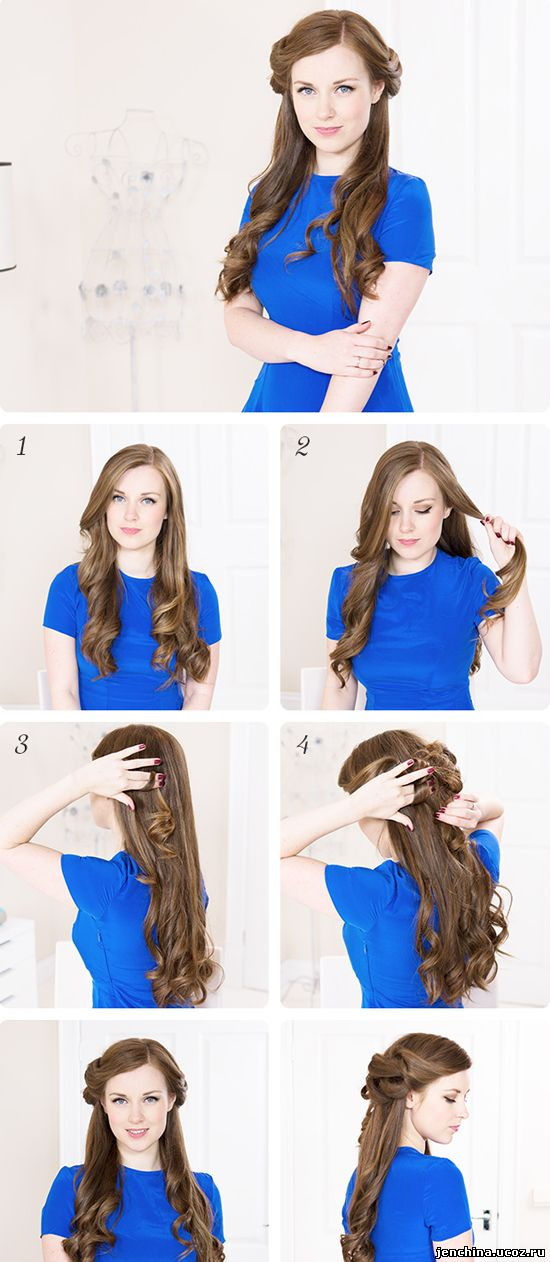 Романтические прически на длинные волосы своими руками 53